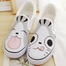 In the summer of 2015 the new hand draw little totoro men and women with low BangTao foot canvas shoes a pedal movement leisure shoes bag mail