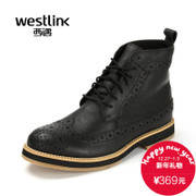 Westlink/West 2015 winter New England vintage leather boots buluokemading boots boys