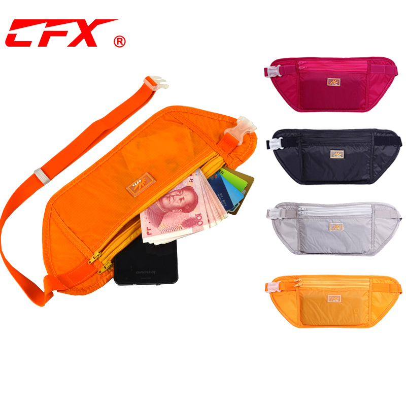 CFX anti theft waist bag ultra thin double layer breathable close fitting invisible WALLET TRAVEL PASSPORT leisure mens and womens mobile phone waist bag