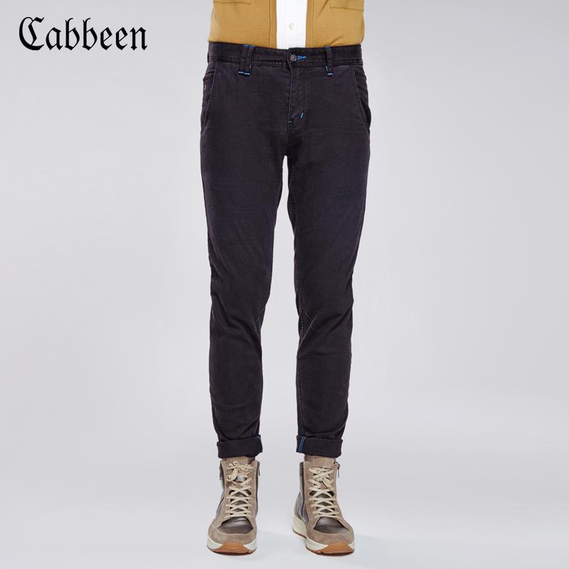 卡賓百搭男士黑色牛仔長褲