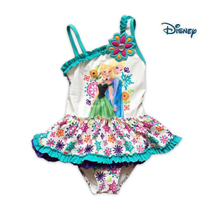 15 years small cuhk children's new D * isney new snow country girls sunscreen inclined shoulder wetsuit