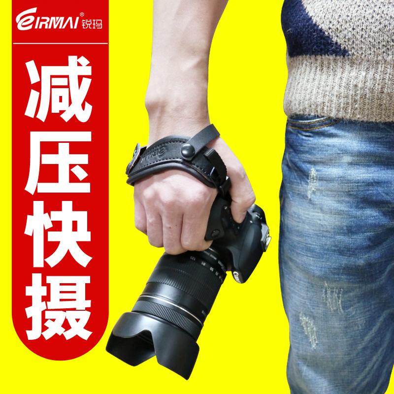 锐玛相机手腕带 for尼康宾得索尼佳能单反相机手腕带 皮质