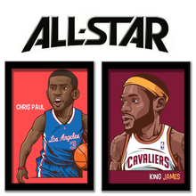 The NBA all-star adornment picture James Bryant durant Paul harden personality paintings that hang a picture Photo frame drawing