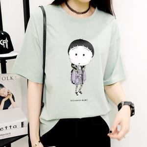 買一送一 寬松t恤女短袖韓范卡通體恤打底衫女上衣韓版女裝夏裝T