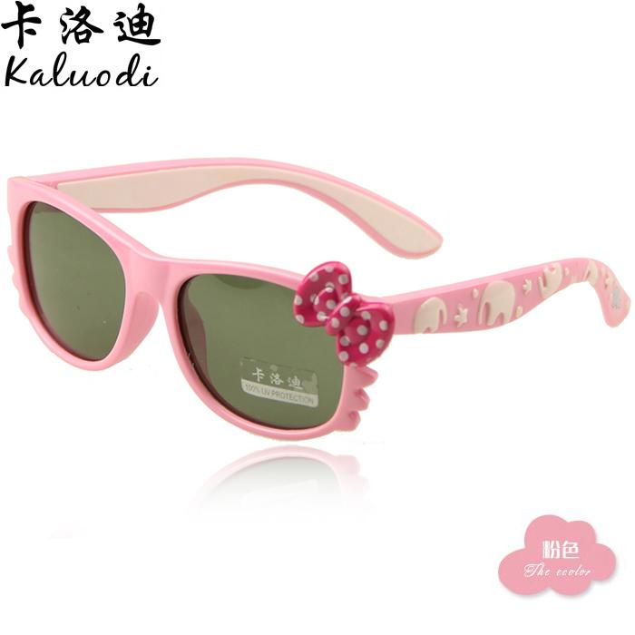 儿童太阳镜 女童 正品 防紫外线 男偏光镜猫咪太阳镜软质小孩眼镜