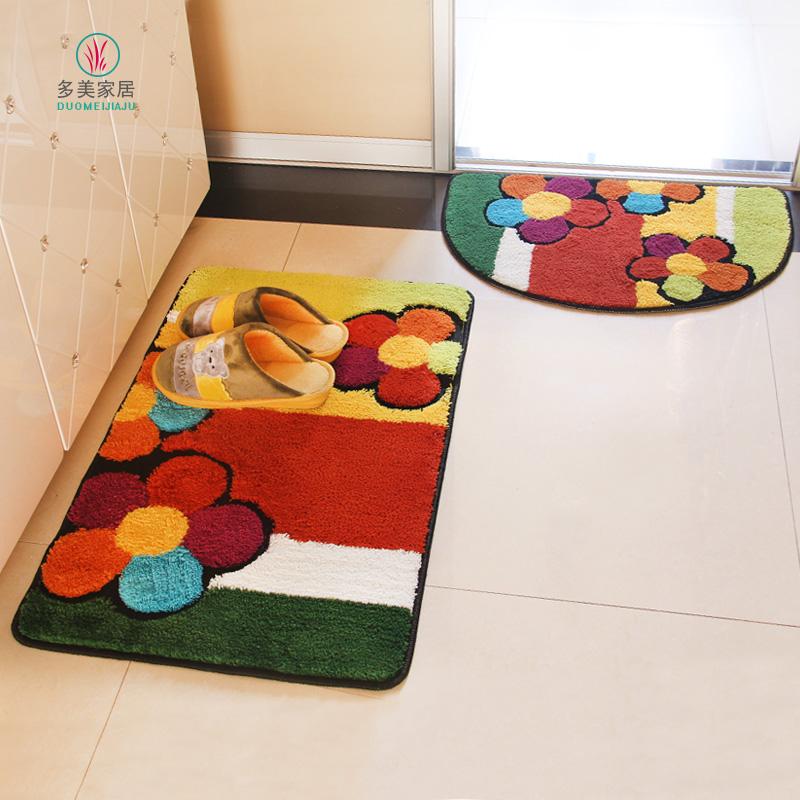 Вход дверь коврик ванной дверь спальни дверь Мат ковер туалетной воды поглощать ноги колодки анти-скольжения мат