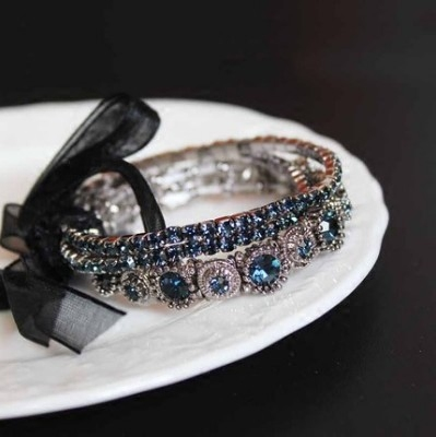 Austrian Crystal multi-layer bracelet and bow imported from South Korea