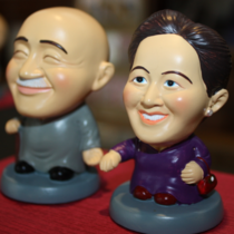 Xikou Scenic Area specialty tourist souvenirs with hand gift Q version of Chiangs couples doll group