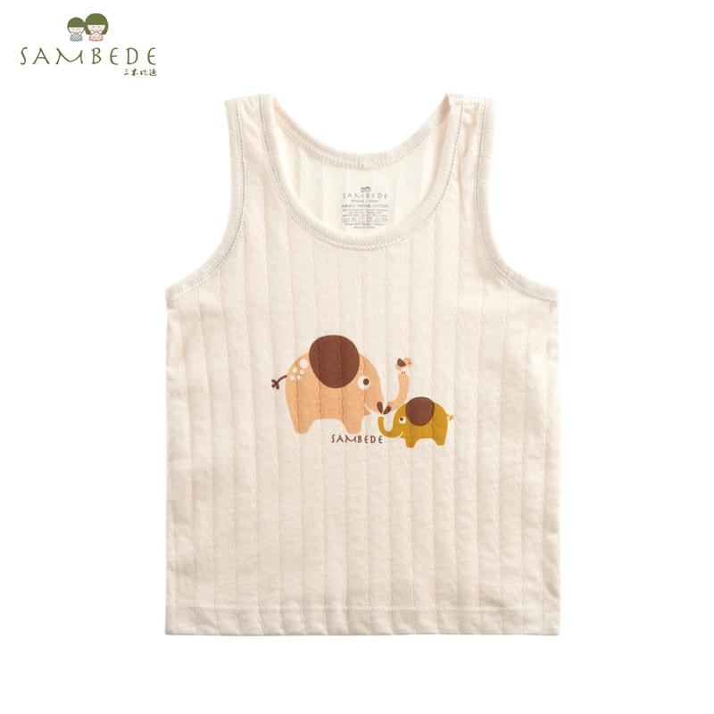 三木比迪 寶寶背心 嬰兒背心上衣兒童吊帶背心純棉