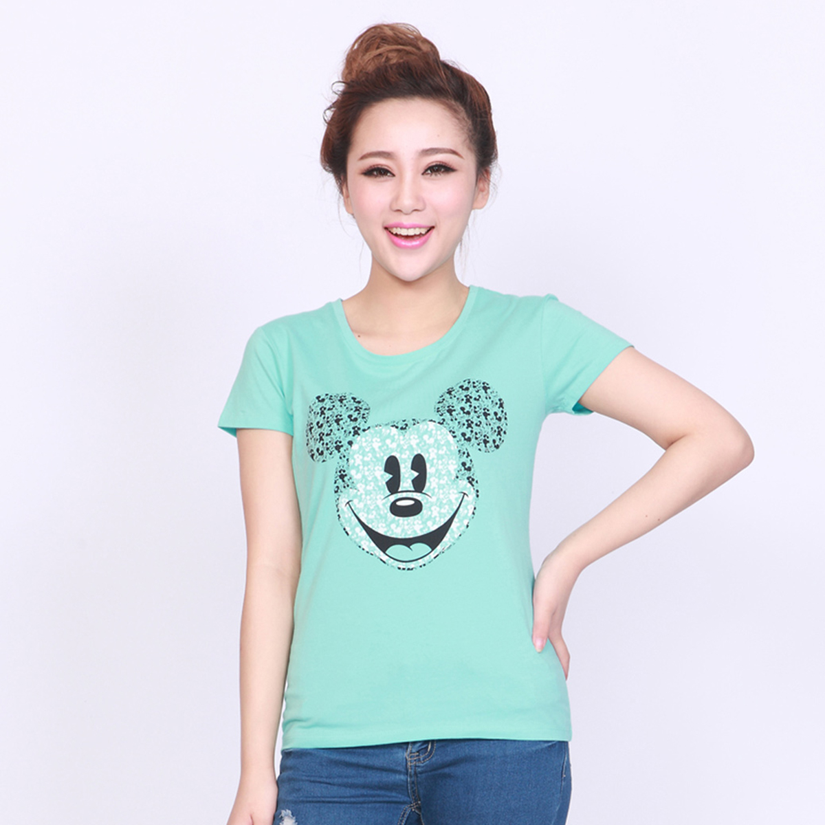 迪士尼女式印花棉質t恤