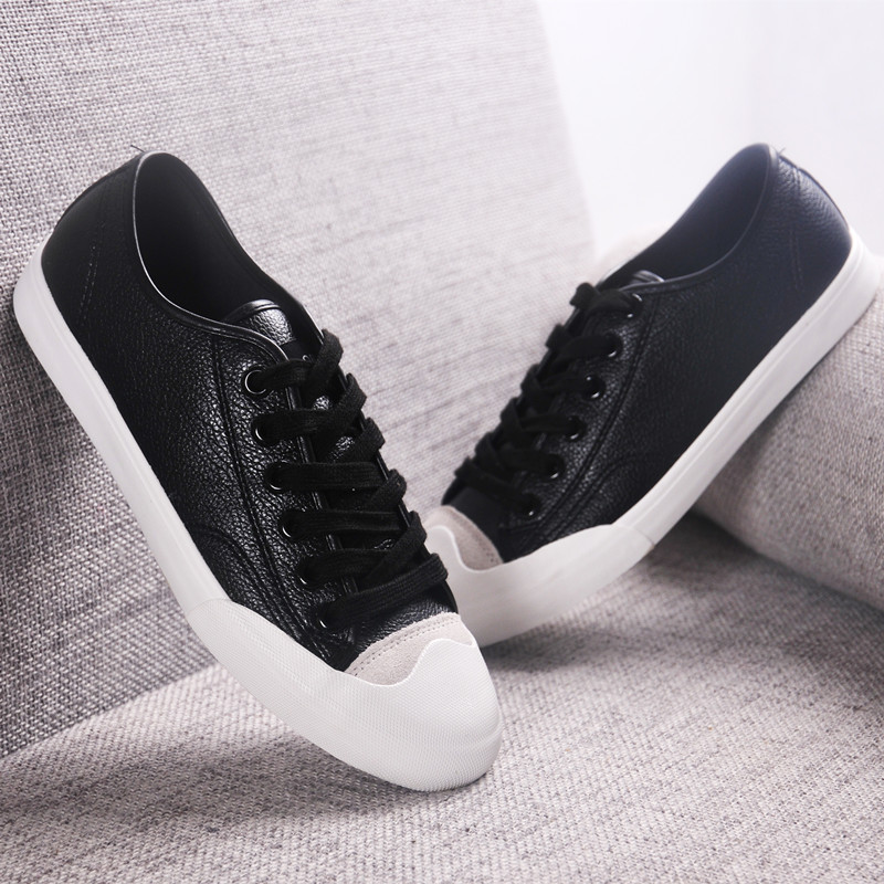 Globegroup new style open smile mens low top canvas shoes leather couple single shoes individual small white shoes black board shoes