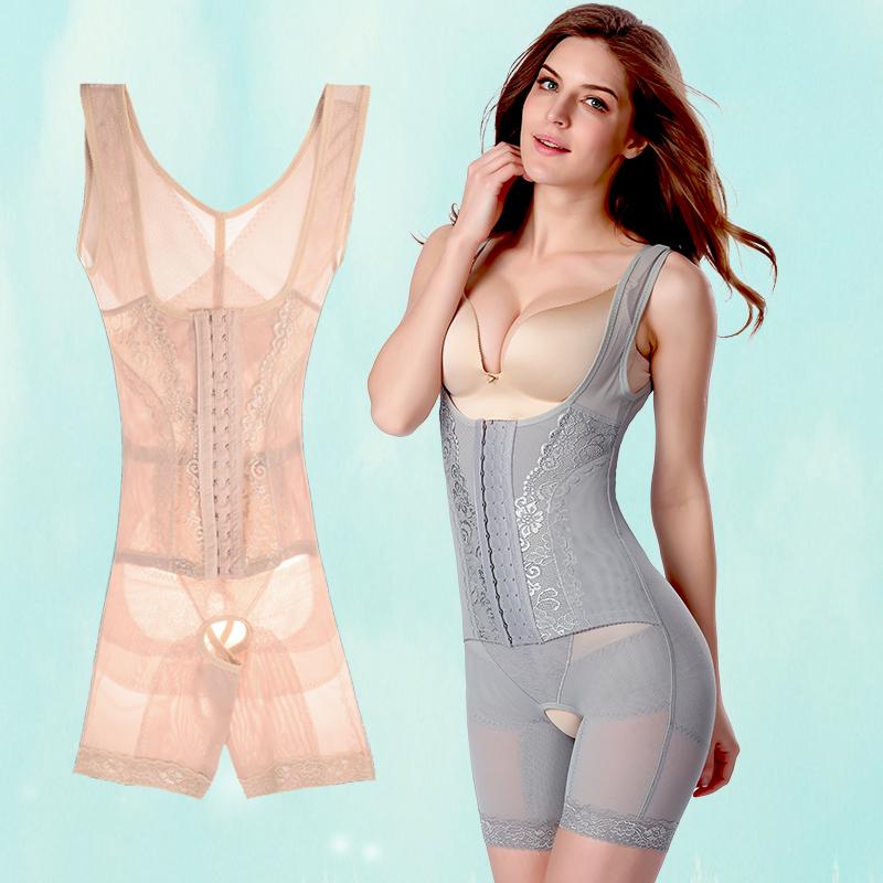 升级版三排扣塑身衣收腹束腰提臀减肚子连体薄瘦身衣塑身女士内衣