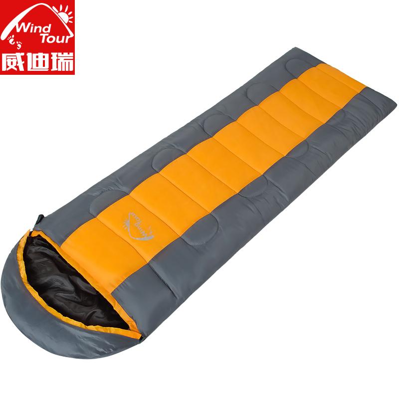 Weidirui открытый зимний сезон взрослых спальный мешок мягкий конверт спальный мешок супер легкий обед перерыв остаться теплым кемпинг спальный мешок