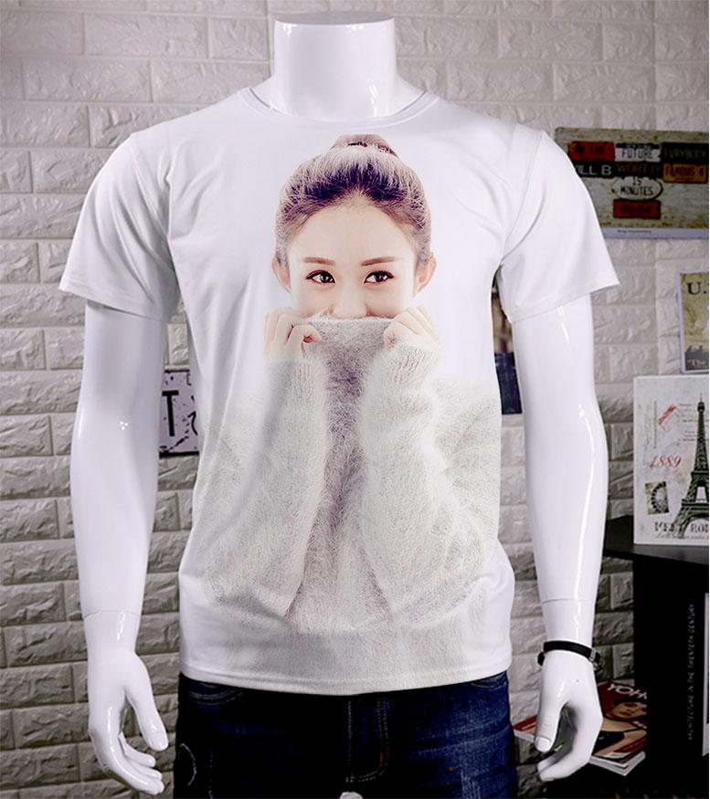 夏 赵丽颖签名同款男女Q版短袖T恤半袖衣服包邮 DIY定制 加肥加大
