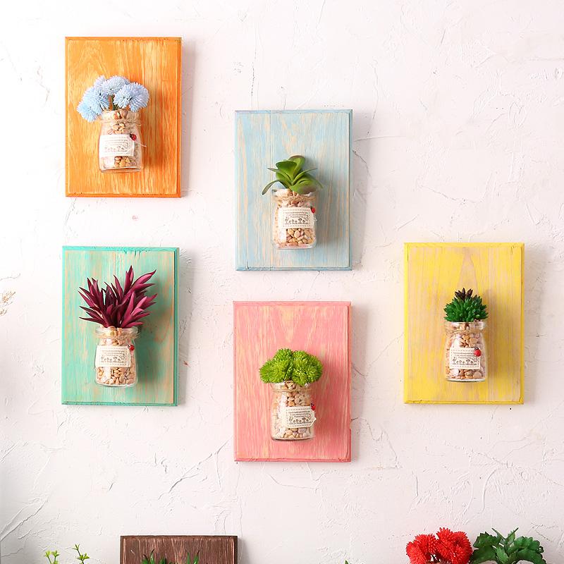 水培植物盆栽壁掛牆掛飾奶茶店牆上裝飾品 家居客廳牆壁小掛件