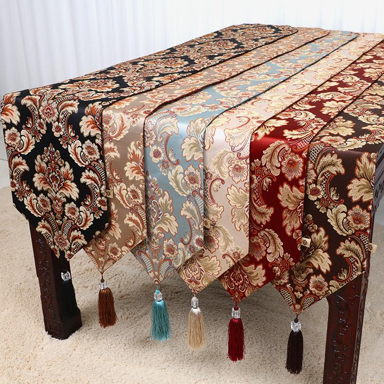 现代简约时尚美式欧式新中式餐桌布艺电视柜床旗茶几桌旗布定制