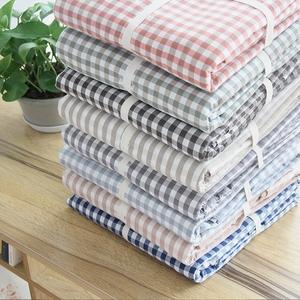 简约单件纯棉水洗棉被套良品日式全棉学生被罩床品1.5m床单人1.8m