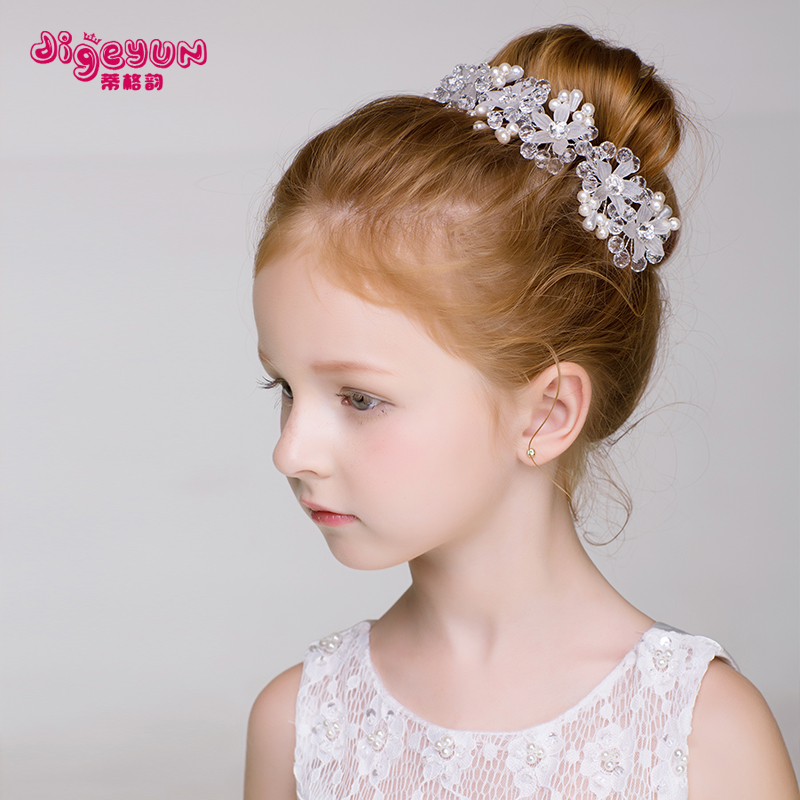 儿童头饰韩式女童手工发饰发夹发箍公主皇冠女孩发卡宝宝饰品头箍