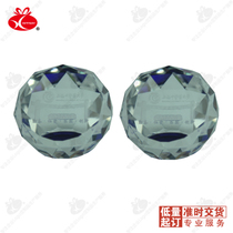 Diamond-type multilateral Bevel crystal ball 10 MOQ printed logo Enterprise exhibition activities to send customers small gifts