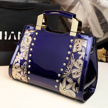 Fall 2015 new leather wet paint set auger euramerican fashion female bag bag sequins bag leather handbag
