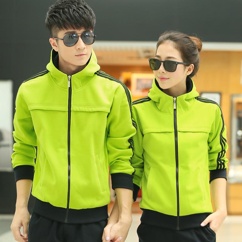 к 2015 году весна и осень и зимняя мода Спортивная одежда спортивная одежда свитер для мужчин и женщин пары корейской версии добавлены вниз размер кода досуг