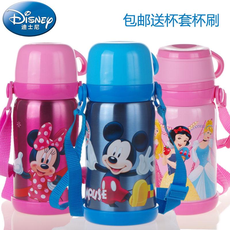 特价包邮正品迪士尼保温杯不锈钢米奇保温水壶儿童水杯5655 5659