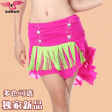 The new belly dance skirt waist skirt skirt Sexy gauze skirt suit practice Tassel big swing dance skirt on sale