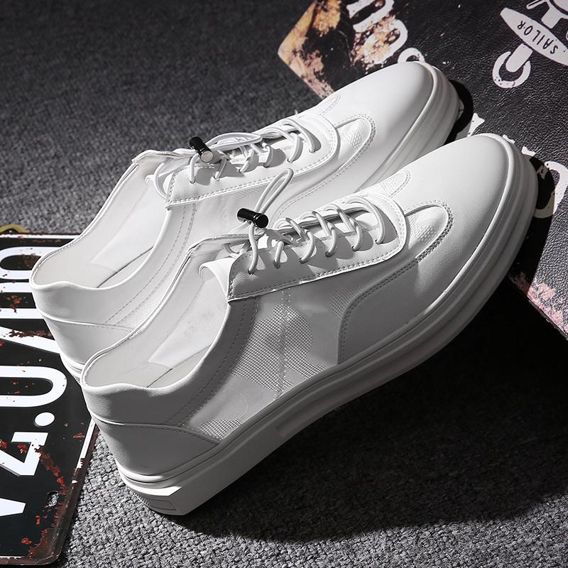 2017 осень мужская обувь новый воздухопроницаемый англия обувь casual корейский обувь мужчина новичок обувной тенденция дикий белые туфли мужчина