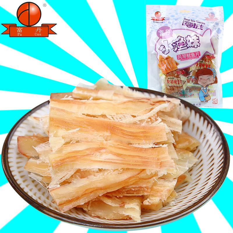 富丹风琴手撕鱿鱼片250g即食小包装 鱿鱼丝舟山特产海味休闲零食