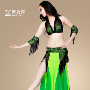 Upscale sexy dance wing suit new belly dance costumes belly dance costume skirt split QC2056