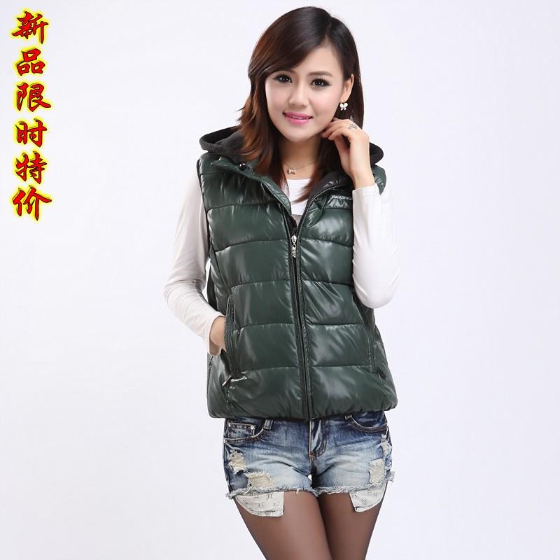 Хлопок плюс размер с вниз куртка жилет жилет девушка корейской версии самостоятельной 2015, осень, зима и короткий хлопок куртка для женщин