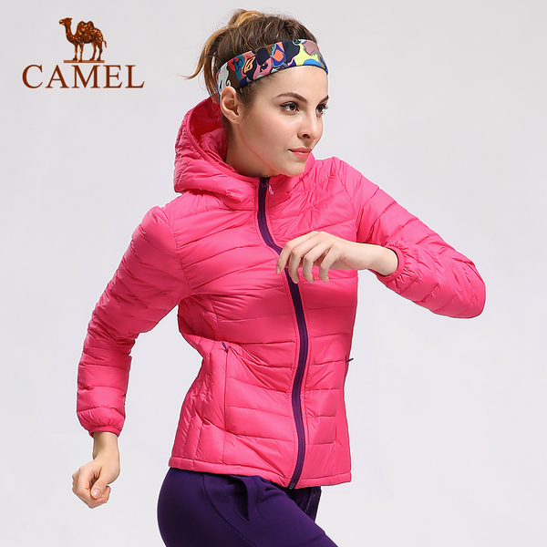 【Hot 2000】Camel outdoor sports men and women couple models Slim Down thin down jacket