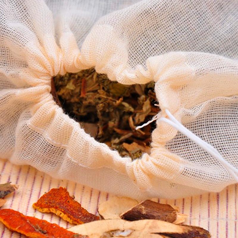 20 месяцы 8*10cm бесплатная доставка хлопок марля приправа мешок обжаренный медицина мешок чай пакет мешок одеть розовое мешок горшок суп мешок