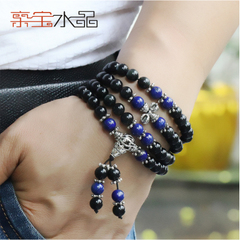 Pro-Bao Crystal Eye natural Rainbow Obsidian Bracelet Bead style jewelry for men and women across the lapis lazuli