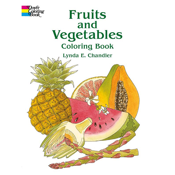 Fruits and Vegetables Coloring Book 七天左右发货