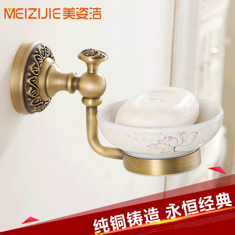 Континентальный античный меди мыло блюдо мыло поле мыло держатель мыльница SOAP китайской печати меди ванной аппаратных