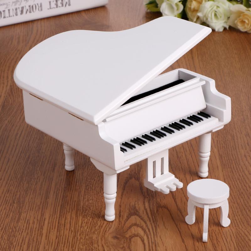 刻字定制木质钢琴音乐盒八音盒创意生日礼物女生闺蜜朋友天空之城
