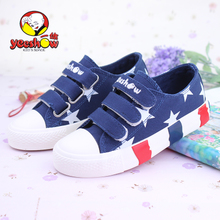 Ikkyu children canvas shoes boy han edition of the new spring and summer sandals women's shoes shoes low to help the students