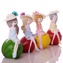 Lovely room home decoration doll resin modern simple crafts living room wine cabinet small ornaments female creativity