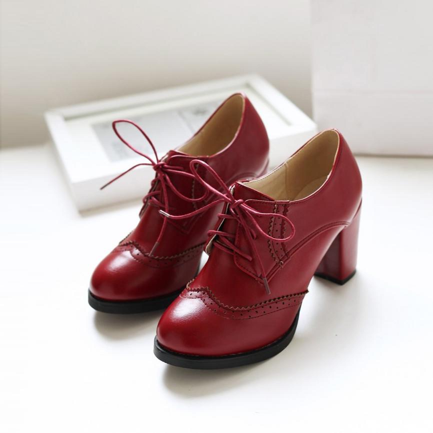 Малый размер обуви 32 33 до Брок принять глубокой грубой высокой над низкой для женщин больших размеров обувь 40-43 42 41