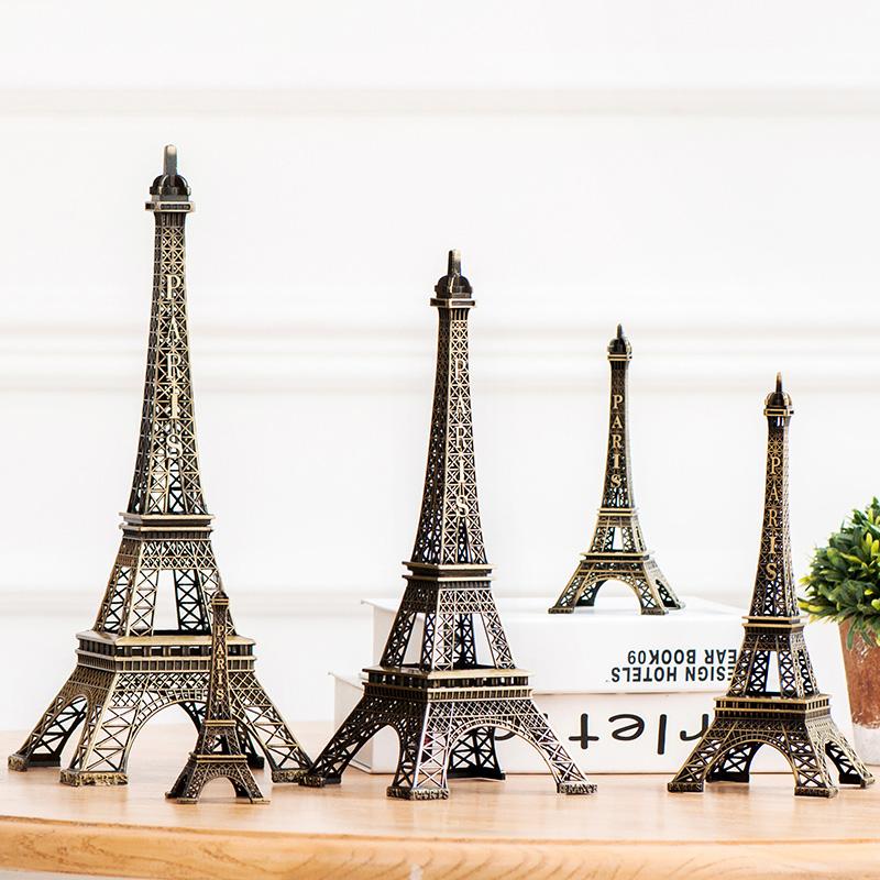 埃菲爾鐵塔模型複古擺件巴黎酒櫃房間電視櫃摩天輪北歐家居裝飾品