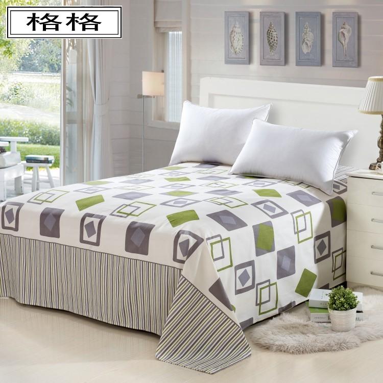 加厚純棉老粗布單件床單雙人1.5米1.8m帆布涼席全棉單人學生被單