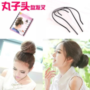 Know pro ball head of hair beauty hair tools Korea tiara hair accessories fork bud hair styling