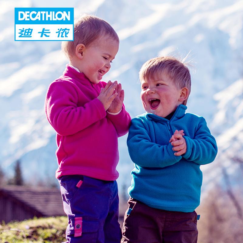 Decathlon открытый новый захват для осень/зима ватки ребенка младенческой толстый теплый флис свитер КЕЧУА