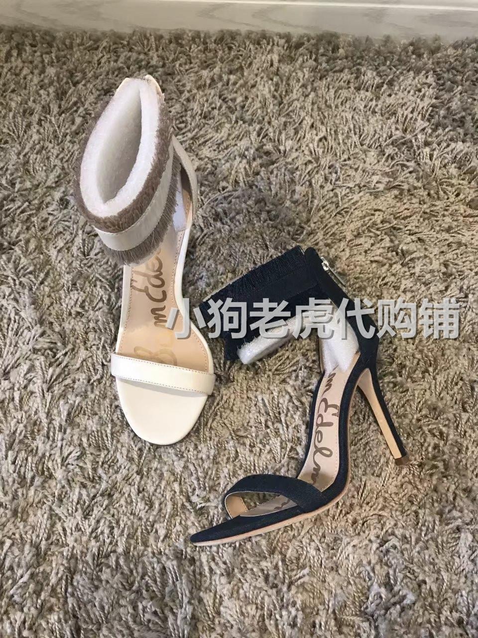 Sam Edelman anabeth ankle tassel high heel back zipper sandals