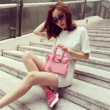 In the summer of 2015 new female bag tide Houseofhello spoof mini platinum bag portable chain bag one shoulder inclined across the bag