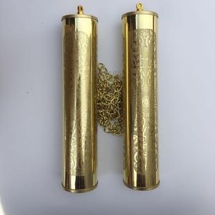 北极星老式落地挂钟座钟装饰空心铝制装饰锤机械钟 钟锤配件