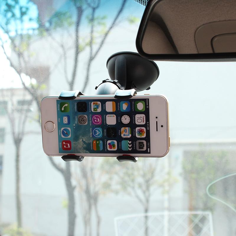 车载手机支架汽车车用吸盘式小车车上360度旋转夹子多功能通用型