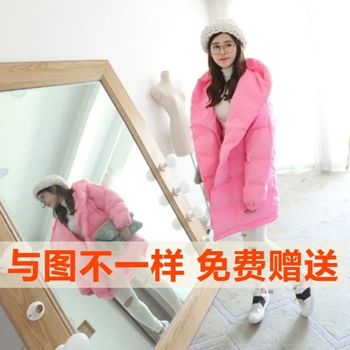 Новая корейская версия свободной толщиной проложенные хлопка одежда хлопка платье студенток вокруг бумажник розовый хлеб корея тайд куртка