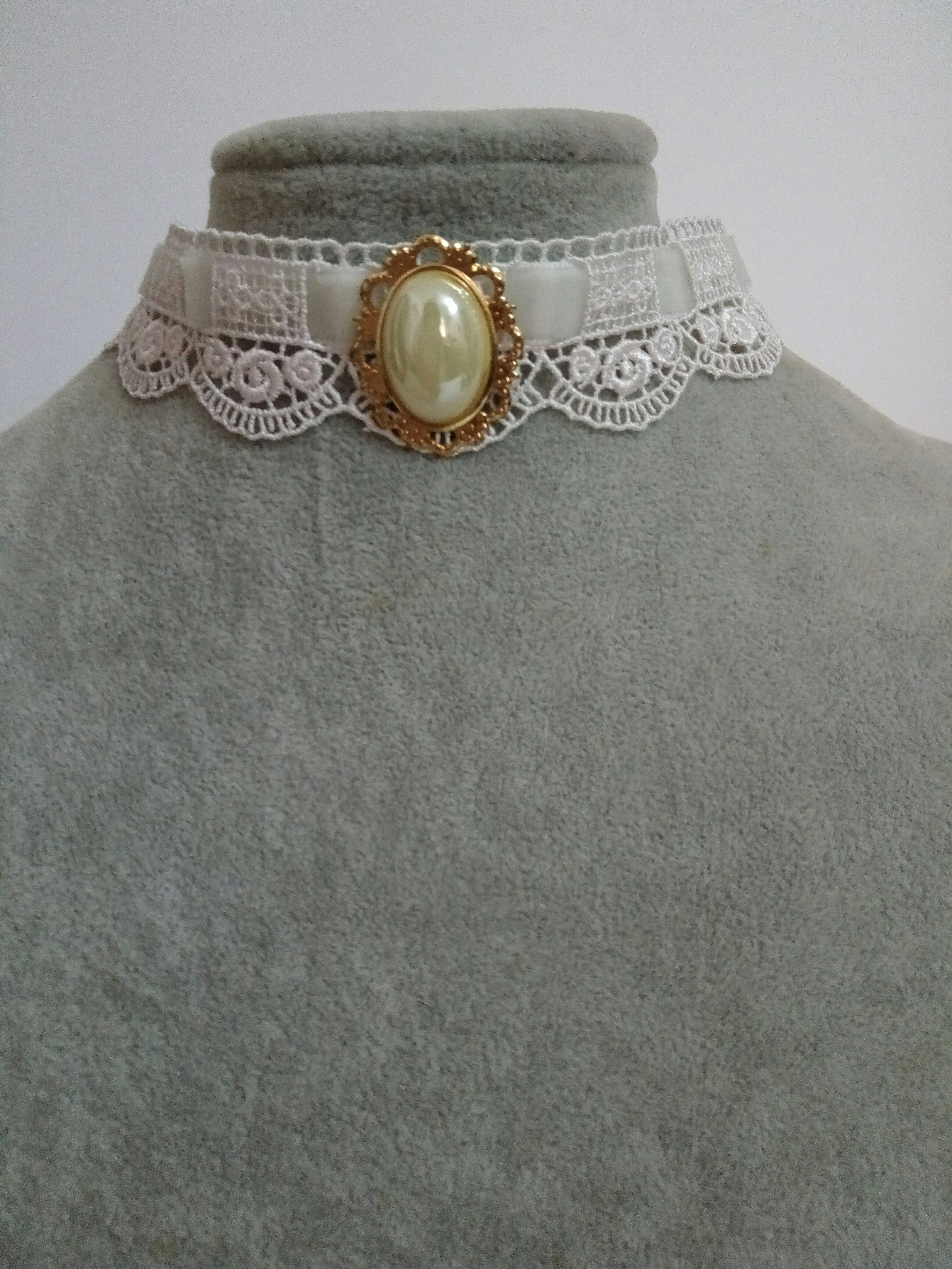 Full 18 yuan package mail Lolita lovely gem Princess Rose Lace neck band collar collar bone Chain Necklace
